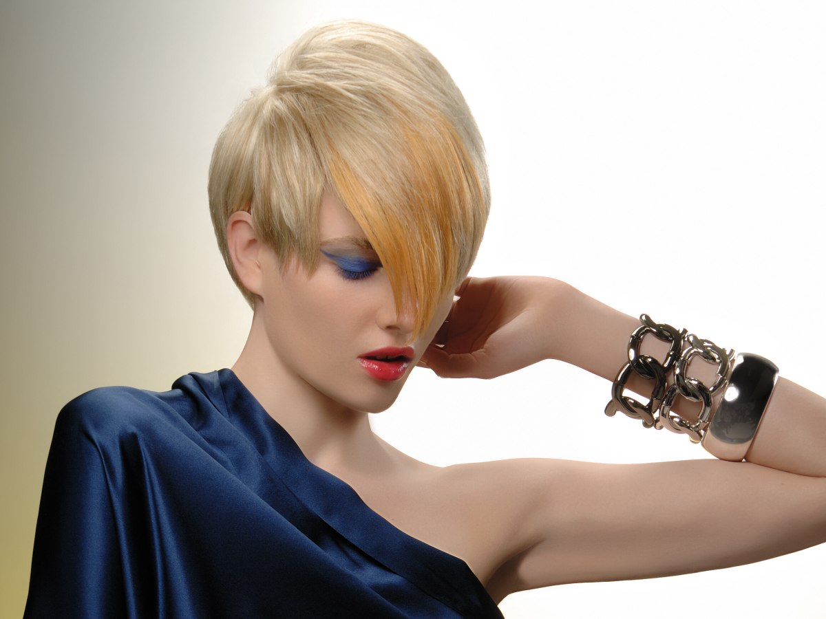 Short Neck And Sides Haircut With Long Top Hair