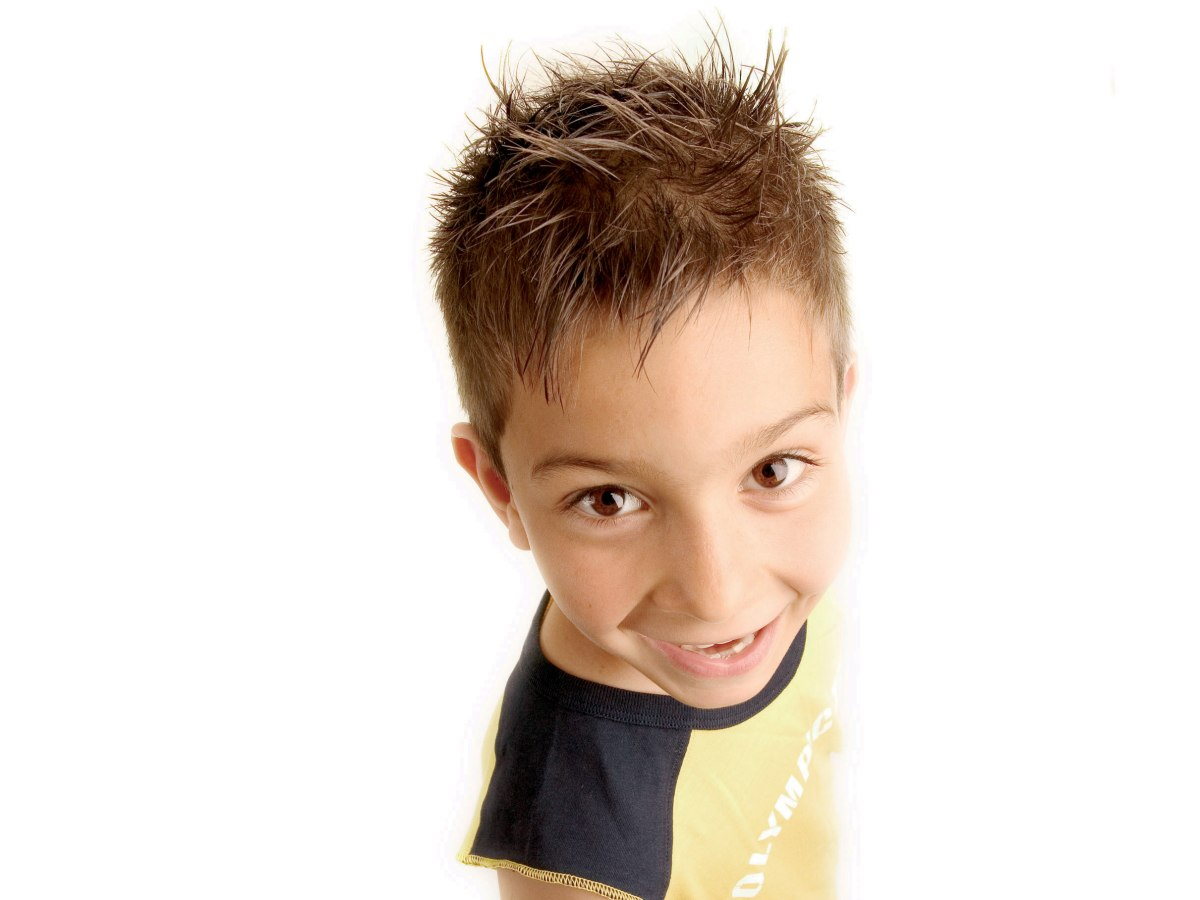 Boy Hair Style: Short Spiky Hairstyle For Boys, With The Sides Cut Super Short