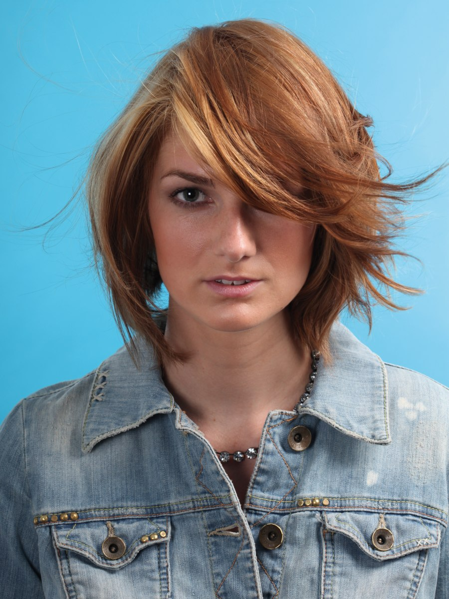 Mid Length Layered Haircut With Interior Layers To Create