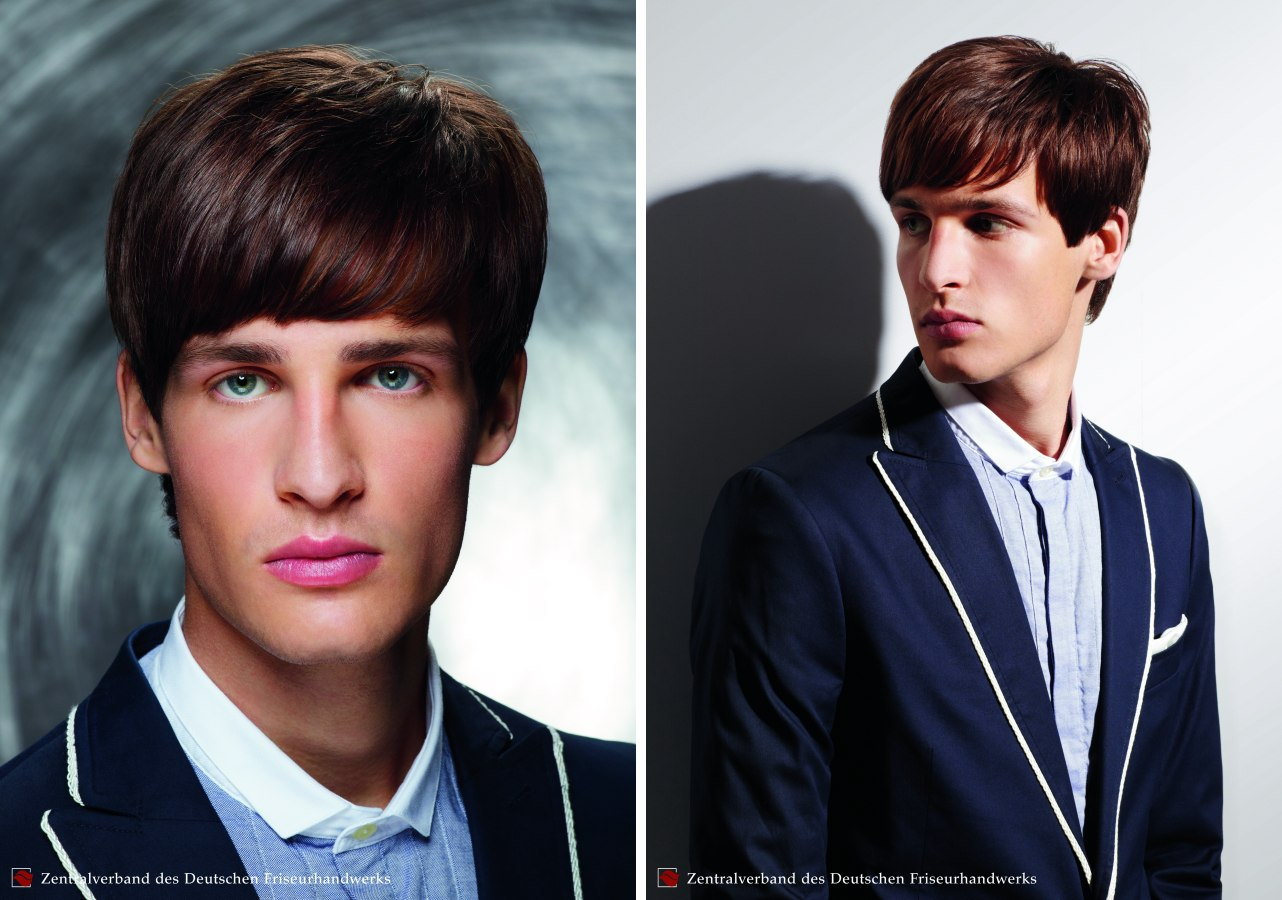 Men's hairstyle with neatness and inspired by the Beatles