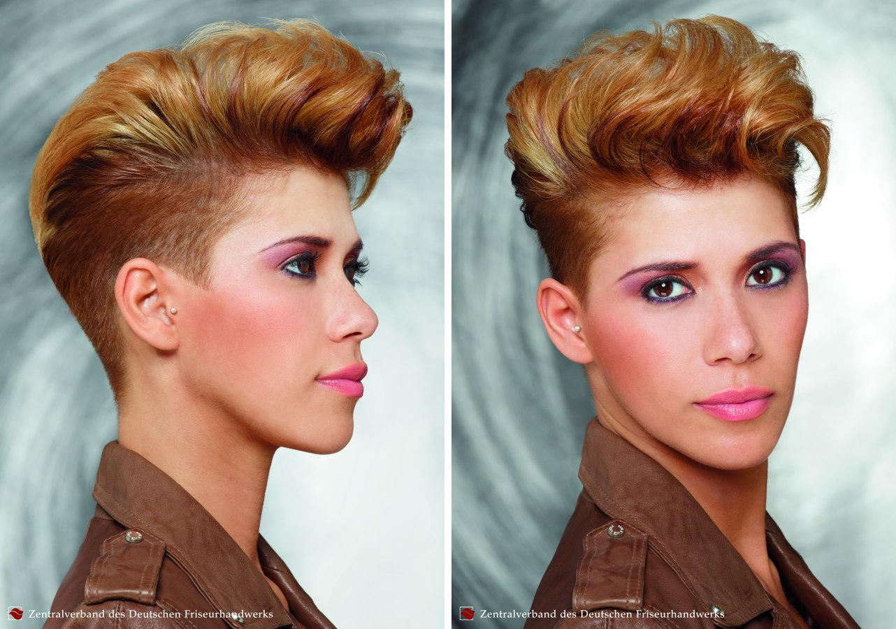 Haircut With Buzz Cut Sides And The Top Styled Upward