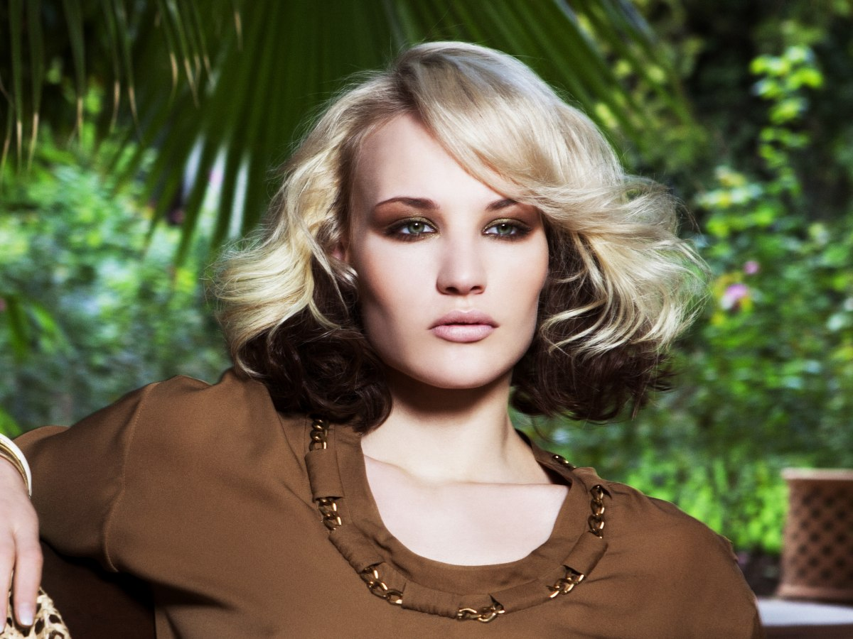 Excellent Dying Hair Blonde And Brown Underneath Short Hair Fashions Short Hairstyles Gunalazisus