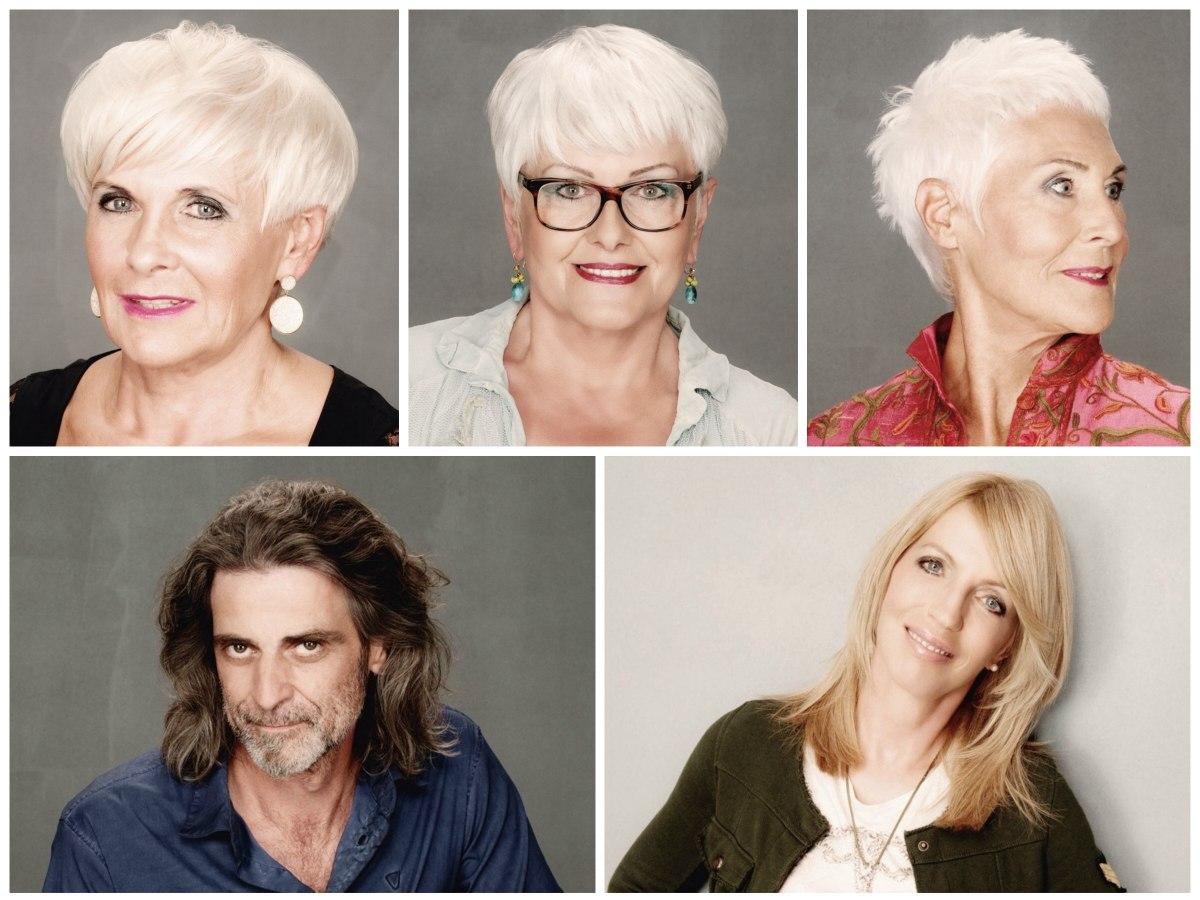 Hairstyles for men and women in their 50s, 60s, 70s or 80s