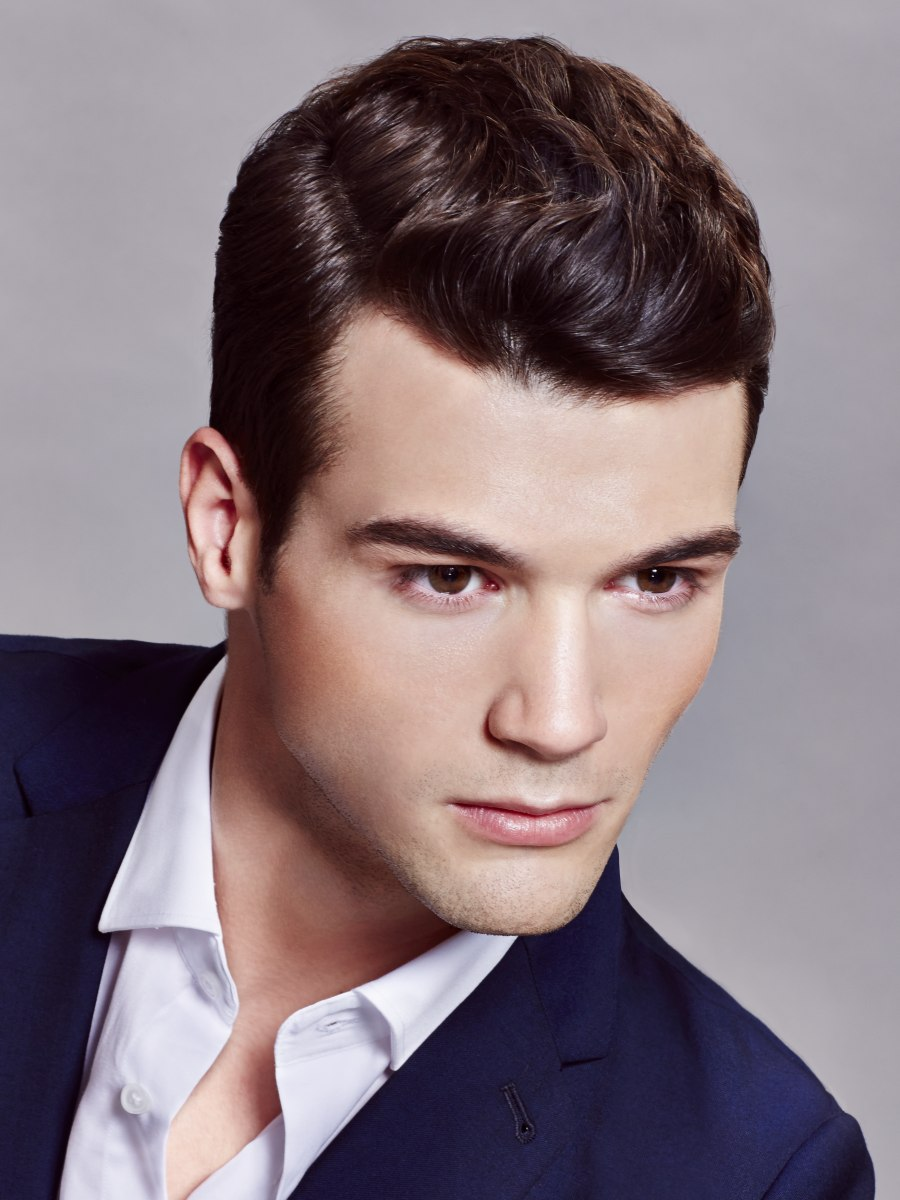 Neat Short And Slicked Back Haircut That Makes Men Look Their Best