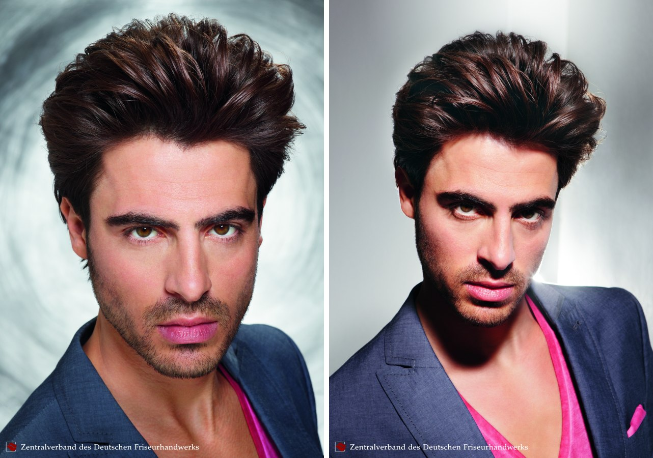 Men S Hair Curved Backward Over A Round Brush Facial