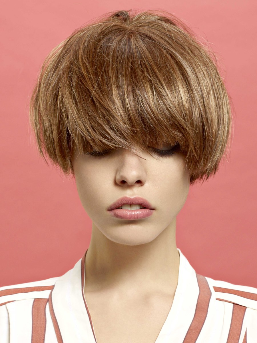 Very Short And Almost Ear Length Bob With Hair That Falls Around ...