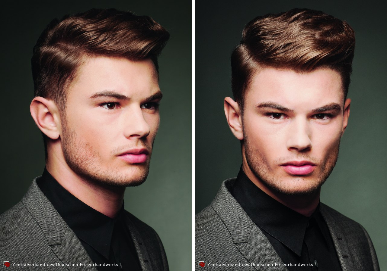 Hair Fashion For Men Neat Professional Hairstyle With Combed Back Sides