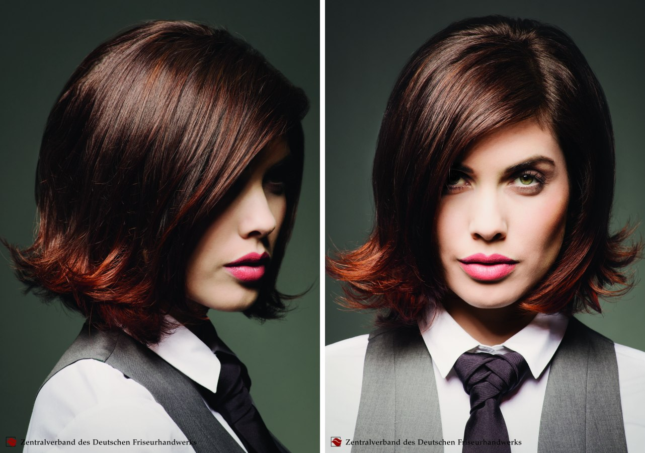 Easy To Style Bob Haircut With The Ends Shaped To A Chic