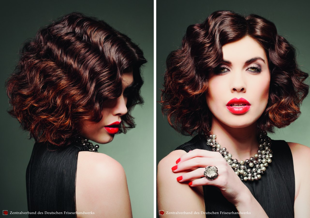 Seductive Bob Hairstyle With A Vintage Finger Waves
