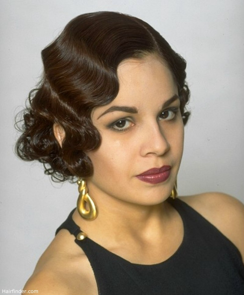 Charleston Era Look With Finger Waves