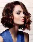 contemporary wavy bob