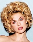 short vintage hair with curls