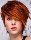 short cut with a side fringe