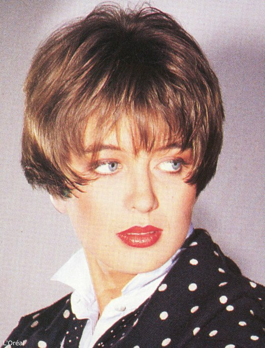Cool Short Eighties Hairstyle With The Hair Cut Very Short At The Back Hairstyles For Women Draintrainus