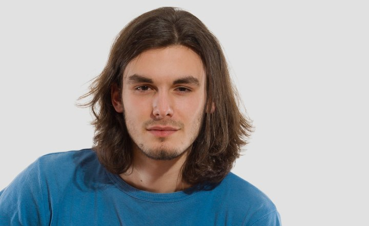 Men With Long Hair And A Presentable Ponytail Look For