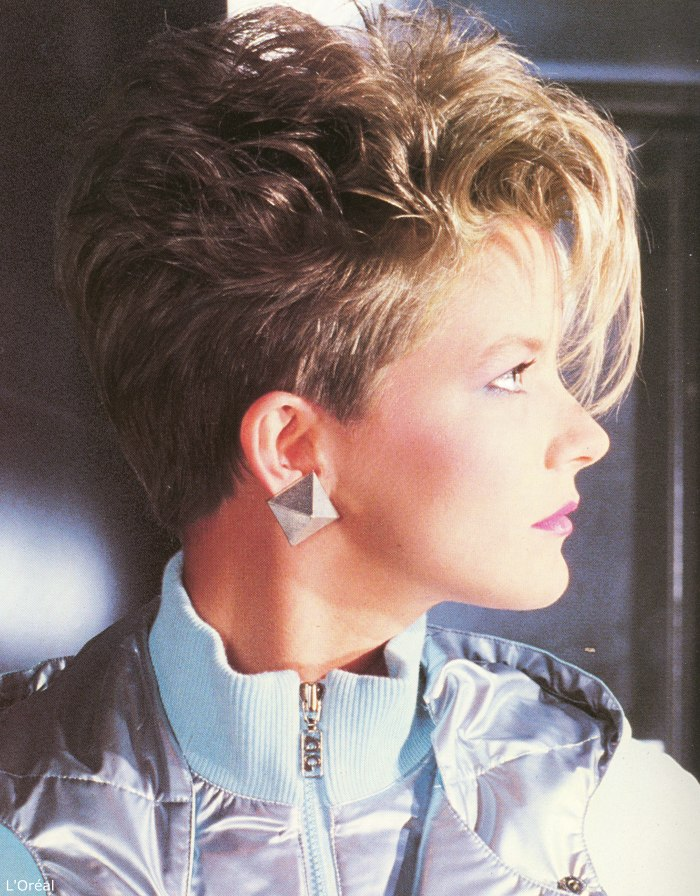 Excellent Hairstyles And Short Haircuts Of The Eighties With A Clipped Up Hairstyle Inspiration Daily Dogsangcom