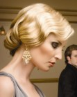 vintage finger wave look