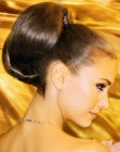 smooth chignon