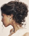 updo for hair with curls