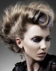 updo for hair with undercut sides