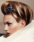 updo with a hairpin