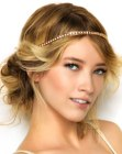 updo with headband