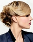 updo with side bangs