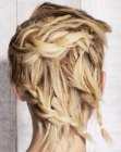 fun hairstyle with braids