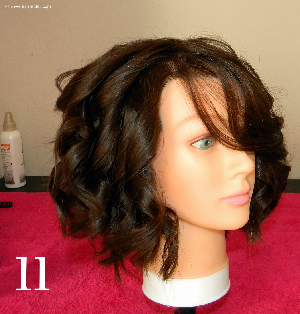 Excellent Angled Bob With Beach Curls Beach Hairstyle Short Hairstyles Gunalazisus
