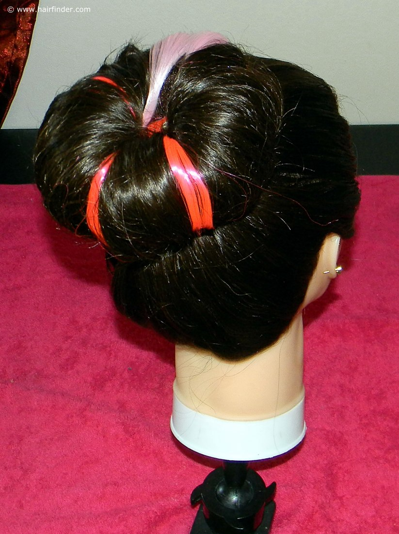 How To Style Hair Up With A Sock Bun And Colored Extensions