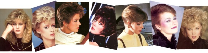 Hairstyles of the eighties