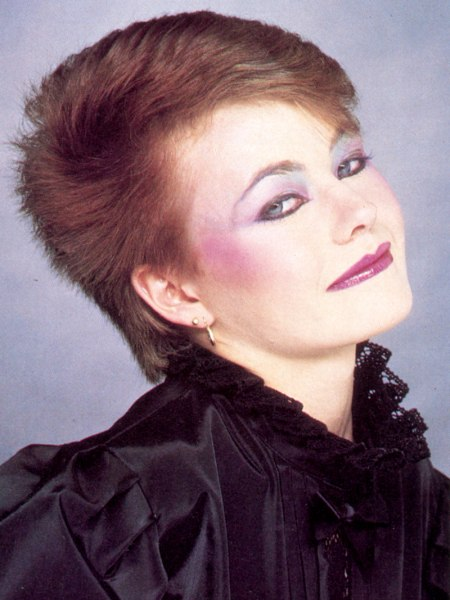 New wave hairstyle from the 80s