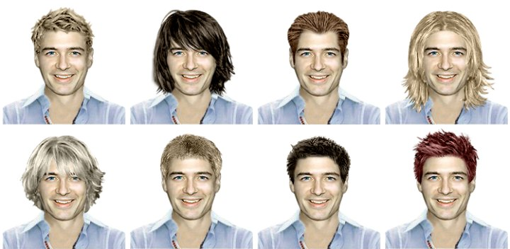 Virtual try on haircuts and makeover app for men