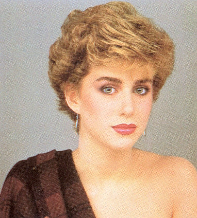 Groovy Short 1980S Vintage Hairstyle With Volume And Heights Hairstyles For Women Draintrainus