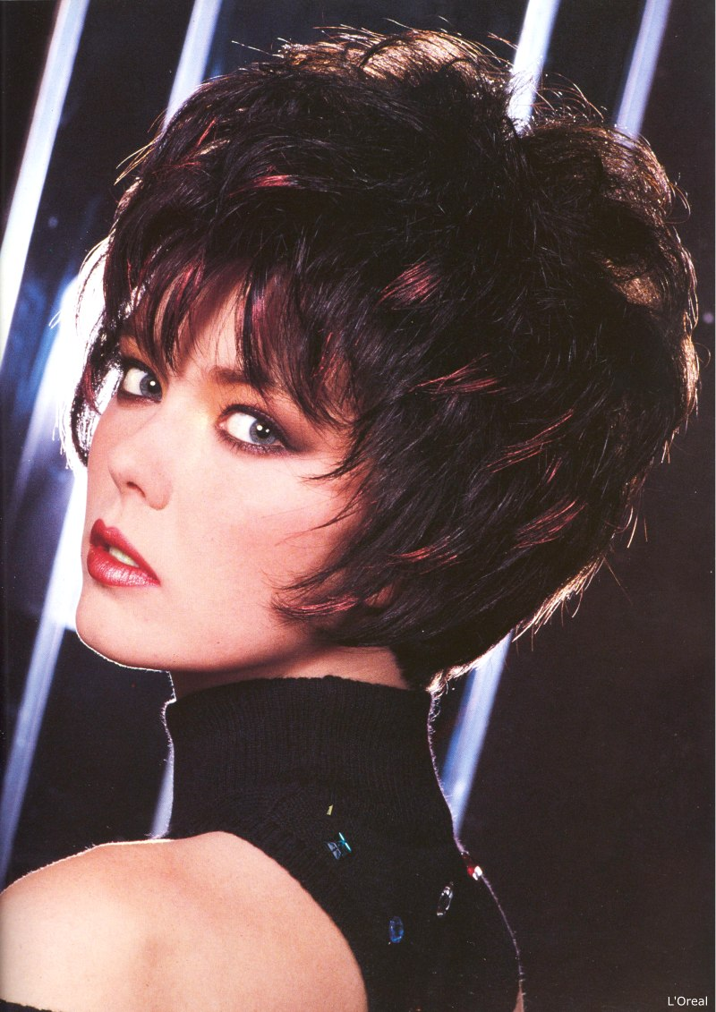 Short 1980s Haircut With Spiky Sections Around The Face