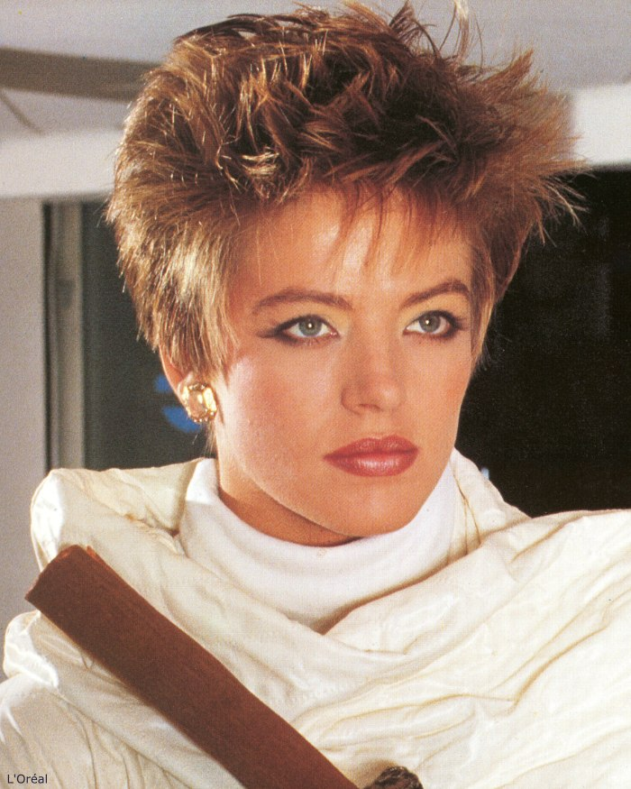 Astounding Short And Spiky 80S Hairstyle Hairstyles For Women Draintrainus