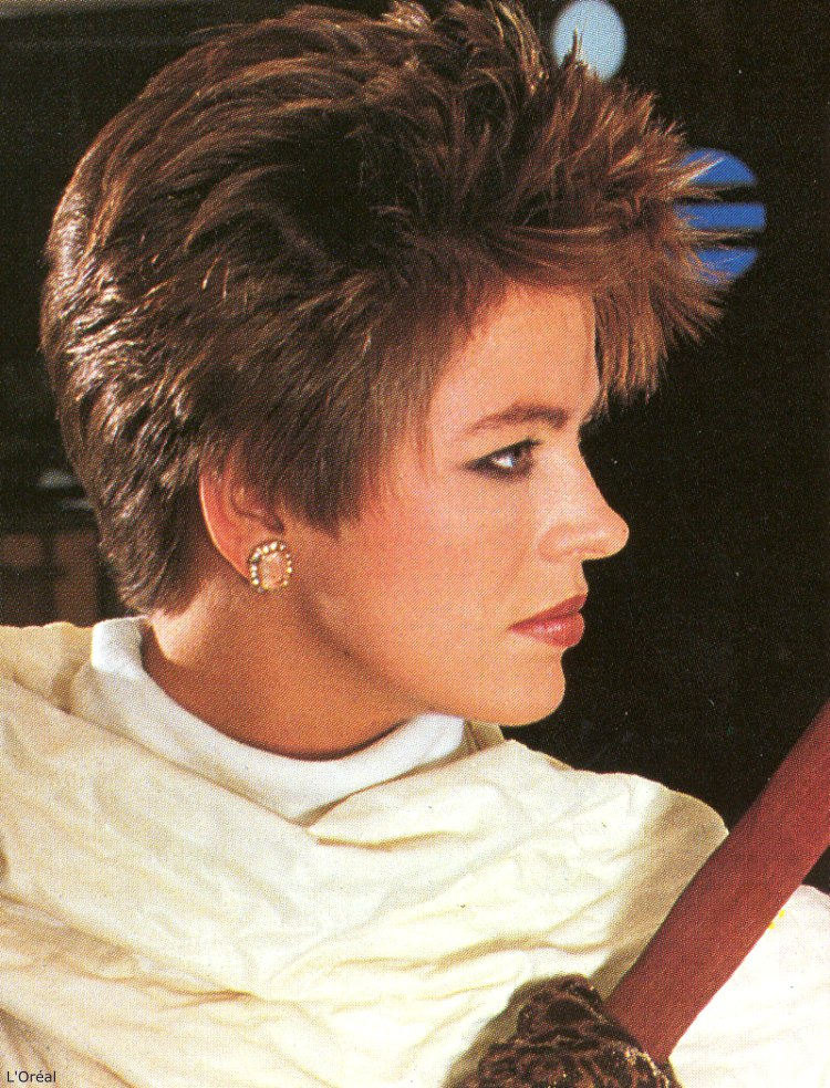 Stupendous Short And Spiky 80S Hairstyle Hairstyles For Women Draintrainus
