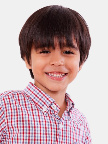 Low Maintenance Haircut With Layers For Little Boys