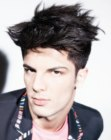 men's punk hairstyle
