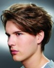 flipped back fringe for men
