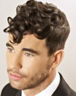 vintage hair for men with curls