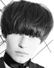 male bowl cut