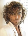 long curly men's hairstyle image