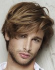 male hairstyle with fringe