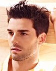 mens hair with gel