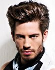 mens hairstyle with volume