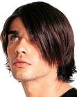 side-swept men's hair