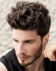 neat masculine hairstyle