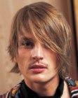 trendy medium length men's haircut