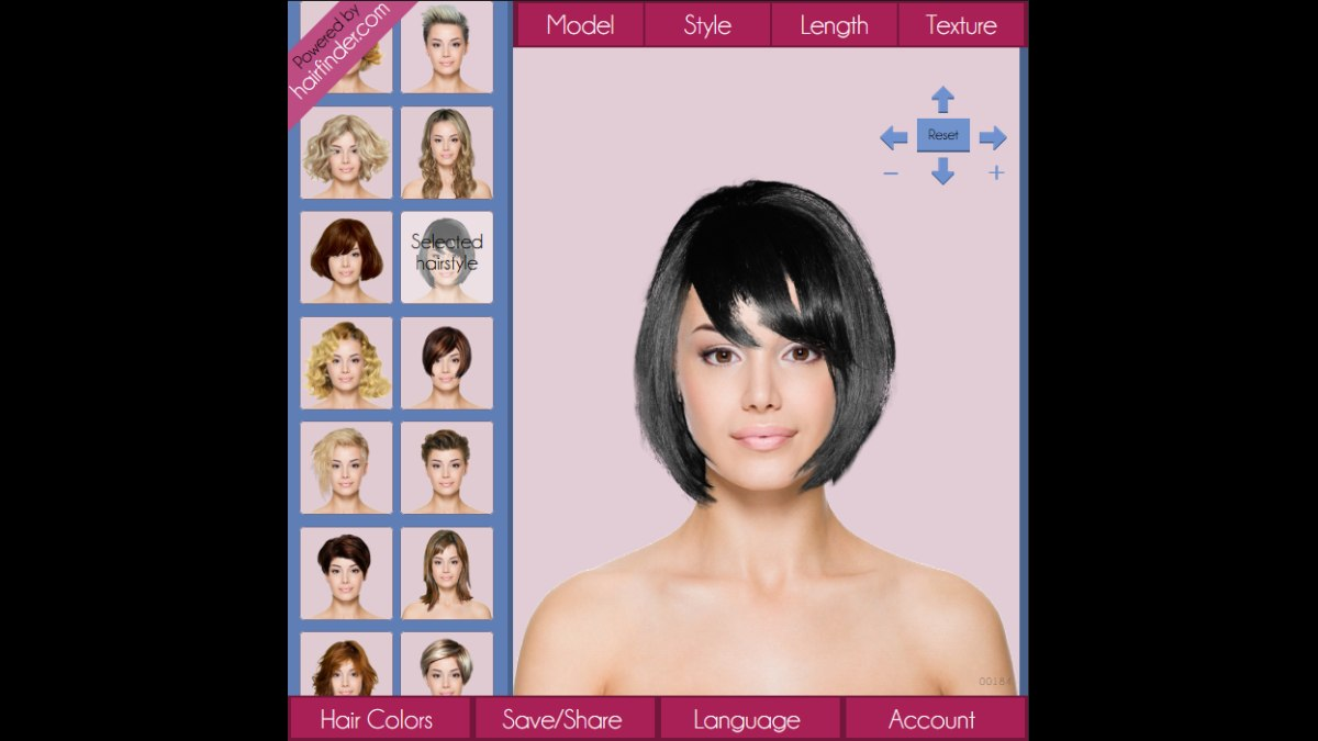 Free hair makeover tool to test hairstyles and hair colors on a photo of yourself | App